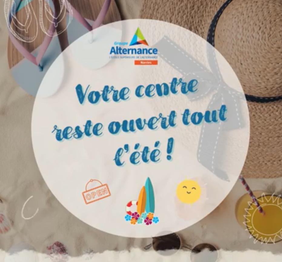 Groupe Alternance Nantes notre centre de formation reste ouvert cet été