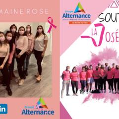 Groupe Alternance Angers La Roche sur Yon octobre rose cancer du sein notre engagement